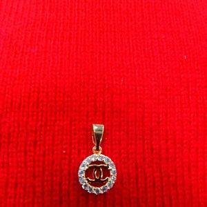 Gold vintage pendant